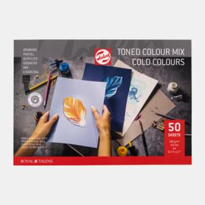 Talens Toned Paper mix warm, A4, 180 g, 50 pages, FSC-MIX