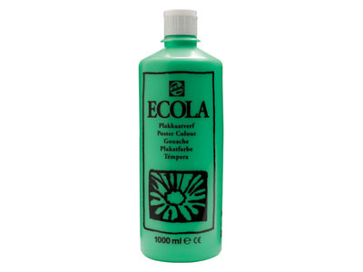 Ecola (Talens Plakkaatverf) 1000 ml nr. 601 Lichtgroen