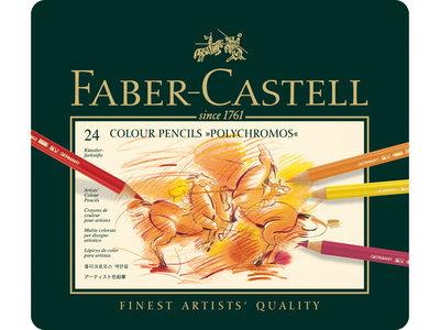 Faber Castell Kleurpotlood Polychromos 3,8mm kerndikte 24 stuks